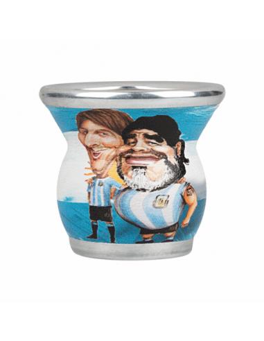 Mate vidrio Messi Maradona argentina mate argentino cristal
