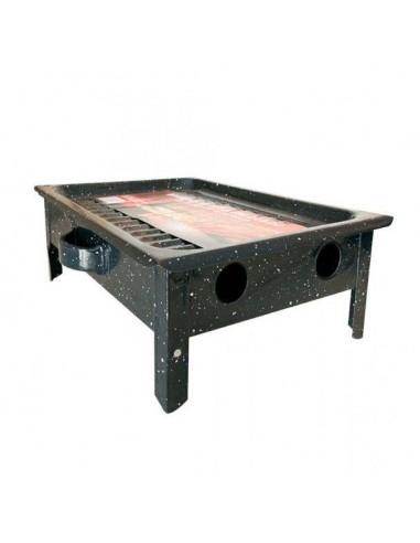 Brasero argentino de mesa esmaltado enlozado para asado