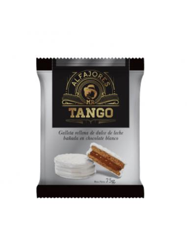 alfajor Mr Tango de chocolate blanco