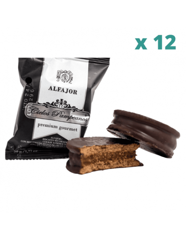 alfajor cielos pampeanos chocolate x 12