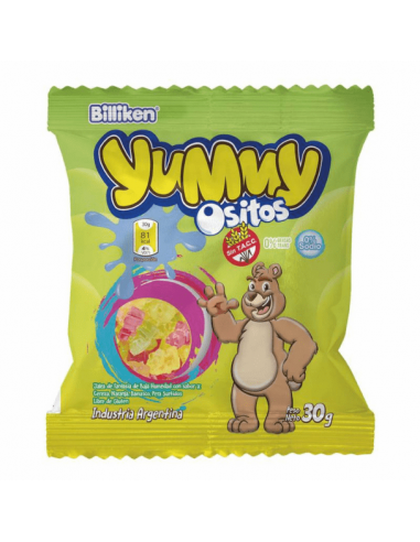 Gomitas ositos yummy frutales  argentina Billiken